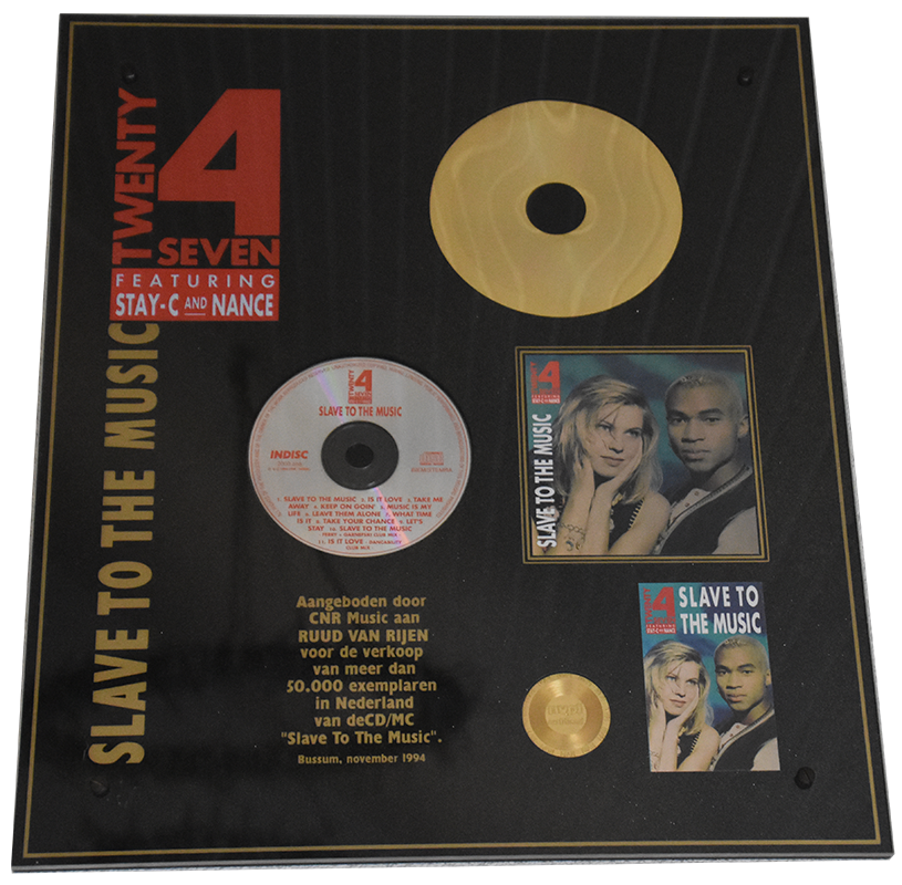 Slave to the music Album Gold Netherlands